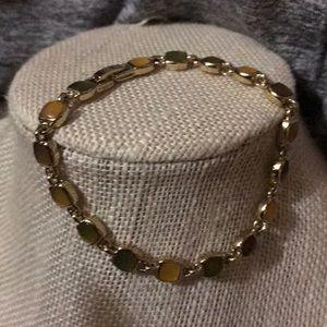 🌹Beautiful used silver gold bracelet